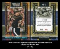 2008 Donruss Sports Legends Museum Collection Materials Prime #12