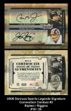 2008 Donruss Sports Legends Signature Connection Combos #2