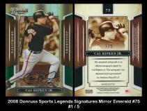 2008 Donruss Sports Legends Signatures Mirror Emerald #75