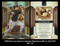 2008 Donruss Sports Legends Signatures Mirror Gold #75