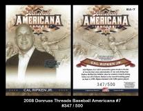 2008 Donruss Threads Baseball Americana #7