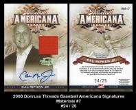 2008 Donruss Threads Baseball Americana Signatures Materials #7
