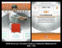 2008 Donruss Threads Century Collection Materials #1