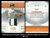 2008 Donruss Threads Century Collection Materials Prime #1