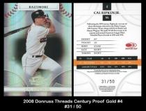 2008 Donruss Threads Century Proof Gold #4