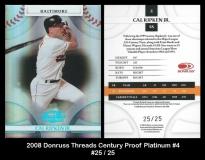 2008 Donruss Threads Century Proof Platinum #4