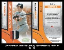 2008 Donruss Threads Century Stars Materials Prime #4