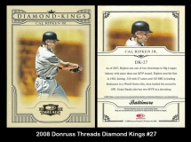 2008 Donruss Threads Diamond Kings #27