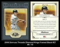 2008 Donruss Threads Diamond Kings Framed Black #27