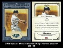 2008 Donruss Threads Diamond Kings Framed Blue #27