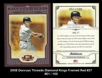 2008 Donruss Threads Diamond Kings Framed Red #27