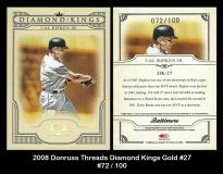 2008 Donruss Threads Diamond Kings Gold #27