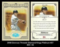 2008 Donruss Threads Diamond Kings Platinum #27