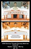 2008 Donruss Threads Dynasty Materials Prime #1