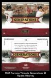 2008 Donruss Threads Generations #2