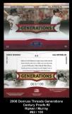 2008 Donruss Threads Generations Century Proof #2