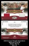 2008 Donruss Threads Generations Materials Prime #2