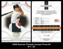 2008 Donruss Threads Jersey Prime #4