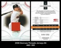 2008 Donruss Threads Jerseys #4