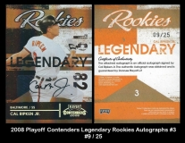 2008 Playoff Contenders Legendary Rookies Autographs ##