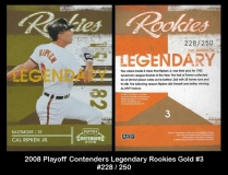 2008 Playoff Contenders Legendary Rookies Gold #3