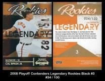 2008 playoff Contenders Legendary Rookies Black #3