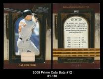 2008 Prime Cuts Bats #12