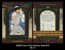 2008 Prime Cuts Century Gold #12