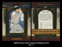2008 Prime Cuts Century Platinum #12