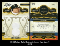 2008 Prime Cuts Colossal Jersey Number #1