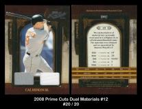 2008 Prime Cuts Dual Material #12