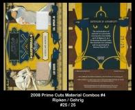2008 Prime Cuts Material Combos #4
