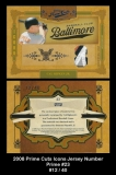 2008 Prime Cuts Icons Jersey Number Prime #23
