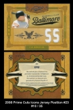 2008 Prime Cuts Icons Jersey Position #23