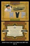 2008 Prime Cuts Icons Materials MVP #23