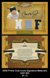 2008 Prime Cuts Icons Signature Materials HOF #23
