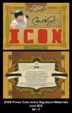 2008 Prime Cuts Icons Signature Materials Icon #23