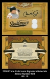 2008 Prime Cuts Icons Signature Materials Jersey Number #23