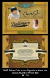 2008 Prime Cuts Icons Signature Materials Jersey Number Prime #23
