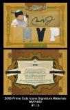 2008 Prime Cuts Icons Signature Materials MVP #23