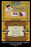 2008 Prime Cuts Icons Signature Matrerials Combos Prime #23