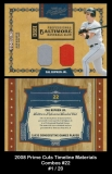 2008 Prime Cuts Timeline Materials Combos #22