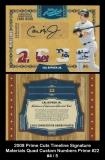 2008 Prime Cuts Timeline Signature Materials Quad Custom Numbers Prime #22