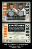 2008 SP Legendary Cuts Generations Dual Memorabilia #CD