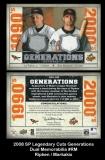 2008 SP Legendary Cuts Generations Dual Memorabilia #RM