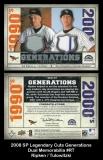 2008 SP Legendary Cuts Generations Dual Memorabilia #RT