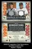 2008 SP Legendary Cuts Generations Dual Memorabilia #TR