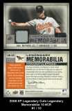 2008 SP Legendary Cuts Legendary Memorabilia 10 #CR
