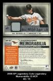 2008 SP Legendary Cuts Legendary Memorabilia 15 #CR