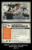 2008 SP Legendary Cuts Legendary Memorabilia 15 #CR2